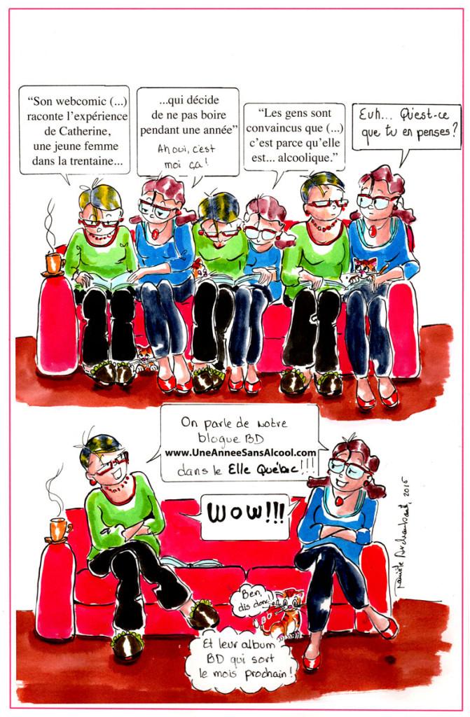 Mon webcomic, ton journal et le magazine Elle Québec. (2). Danièle Archambault