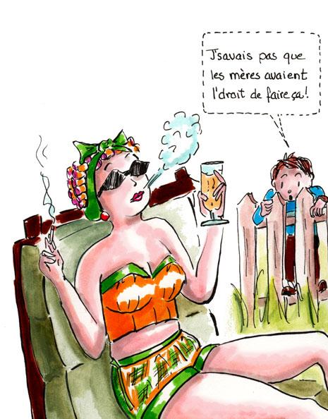 Cigarettes, alcool et fémisime. Le début des années 1960. Danièle Archambault