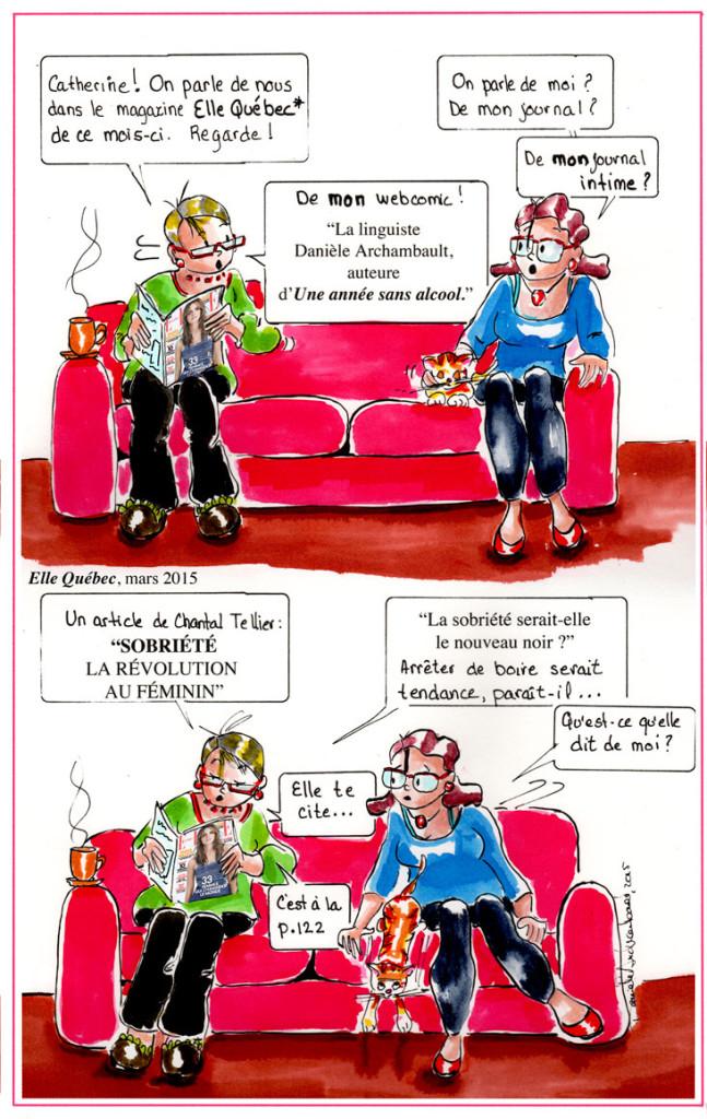 Mon webcomic, le journal de Catherine et Elle Québec.Danièle Archambault