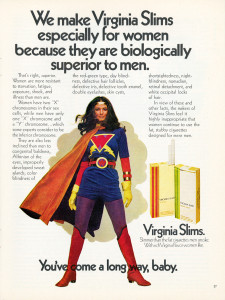 Publicité pour les cigarettes Virginia Slims. (Ref. Tobacco.Stanford.edu)
